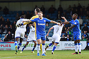 Oldham Athletic midfielder Ryan Flynn (7) scores the winning goal and celebrates (1-2) during the EFL Sky Bet League 1 match between Gillingham and Oldham Athletic at the MEMS Priestfield Stadium, Gillingham, England on 8 October 2016. Photo by Martin Cole.