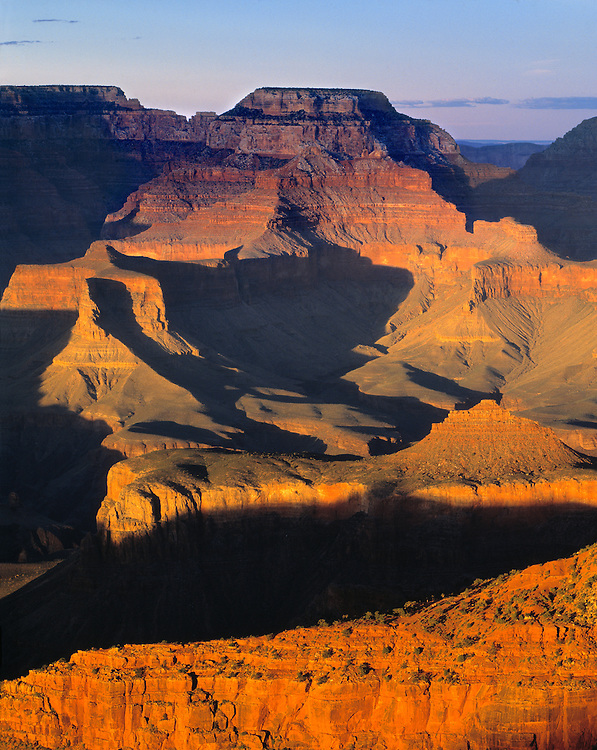Sunset at Mather Point at Grand Canyon NP, Arizona, offers a varied pallet of color to this World Heritage Site.