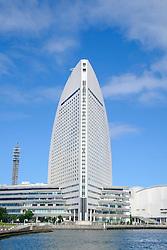 View of modern Intercontinental Hotel in Minato Mirai, Yokohama, Japan