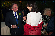 ANDREW PARKER BOWLES; GEORGIA COLERIDGE, Cartier dinner in celebration of the Chelsea Flower Show. The Palm Court at the Hurlingham Club, London. 19 May 2014.