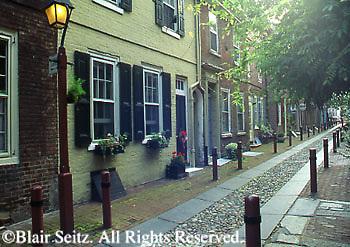 Elfreth's Alley, National Historic Landmark, Independence National Historic Park, Philadelphia, PA