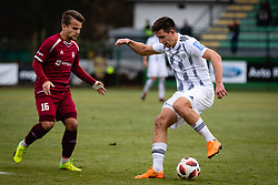 Gasper Udovic of NK Triglav Kranj and Luka Susnjara of NS Mura during football match between NŠ Mura and NK Triglav in 19th Round of Prva liga Telekom Slovenije 2018/19, on December 9, 2018 in Fazanerija, Murska Sobota, Slovenia. Photo by Blaž Weindorfer / Sportida
