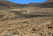 Remote small house in semi-desert near Pajara, Fuerteventura, Canary Islands, Spain