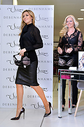 Abbey Clancy launches the Ultimo Valentines Collection at Debenhams, Oxford Street, London, UK. Pictured right is Michelle Mone.<br /> Tuesday, 11th February 2014. Picture by Ben Stevens / i-Images