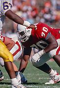 Bob Whitfield, #70, Stanford, Oct 1989 v San Jose State