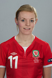 TREFOREST, WALES - Tuesday, February 14, 2011: Wales' Sophie Ingle. (Pic by David Rawcliffe/Propaganda)