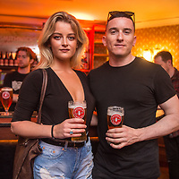Georgia Maeve Power and Evan Doherty at the launch of Smithwick&rsquo;s Soundtrack Series, a&nbsp;special series of live performances that showcases two of Ireland&rsquo;s best live music acts, BARQ and Le Galaxie,&nbsp;as they celebrate their favourite movie soundtracks, Pulp Fiction and Apocalypse Now.&nbsp;Smithwick&rsquo;s Soundtrack Series will be taking place in some of Ireland&rsquo;s favourite music venues across Dublin, Cork, Belfast, Limerick and Sligo from October 2017.&nbsp;Tickets are priced at &euro;15.00, which includes booking fee, and a complimentary pint of Smithwick&rsquo;s (Smithwick&rsquo;s Blonde, Pale or Red Ale). Visit www.smithwicks.eventbrite.ie <br />  - Photography by Ruth Medjber