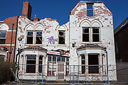 A derelict building, formerly a hotel destroyed by a fire in 2011. The Knowle Lodge hotel, Hagley Road,  Edgbaston, Birmingham, United Kingdom.  (photo by Andrew Aitchison / In pictures via Getty Images)