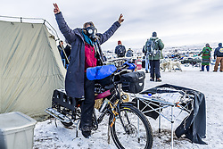 December 3, 2016 - Cannonball, North Dakota, United States - The Showdown at Standing Rock is a win for Native Tribes. The U.S. Army Corps of Engineers turned down a key permit for a the Dakota Access Pipeline that was slated to drill beneath the Missouri River and through sacred Sioux grounds. Many consider this a historic victory for Native Americans and climate activists who have protested the project for months. (Credit Image: © Michael Nigro/Pacific Press via ZUMA Wire)