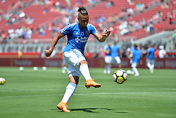 July 22, 2018 - Santa Clara, California, United States - Santa Clara, CA - Sunday July 22, 2018: Quincy Amarikwa during a friendly match between the San Jose Earthquakes and Manchester United FC at Levi's Stadium. (Credit Image: © John Todd/ISIPhotos via ZUMA Wire)