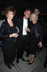 Left to right, EDNA O'BRIEN, MICHAEL PALIN and DAME HELEN MIRREN  at the Orion Publishing Groups Authors party held at the V&A museum, Cromwell Road, London on 15th February 2007.<br /><br />NON EXCLUSIVE - WORLD RIGHTS