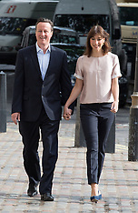 MAY 22 2014 David Cameron and  wife  Samantha  voting in European elections