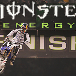 14 March 2009: James Stewart (7) races during the Monster Energy AMA Supercross race at the Louisiana Superdome in New Orleans, Louisiana