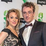 NLD/Amsterdam/20180305 - Uitreiking Buma Awards 2018, Loes Haverkort en partner Floris Verbeij