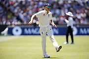 Tom Curran warms up for a spell during the Magellan fourth test match between Australia v England at  the Melbourne Cricket Ground, Melbourne, Australia on 26 December 2017. Photo by Mark  Witte.