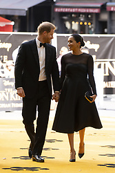 July 14, 2019 - London, London, United Kingdom - Image licensed to i-Images Picture Agency. 14/07/2019. London, United Kingdom. Prince Harry, Duke of Sussex and Meghan Markle, The Duchess of Sussex at the premiere of The Lion King in London  (Credit Image: © Pool/i-Images via ZUMA Press)