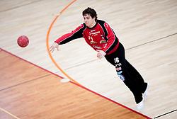 Matevz Skok during practice session of Slovenian Handball Men National Team, on January 11, 2011, in Zrece, Slovenia. (Photo by Vid Ponikvar / Sportida)