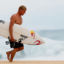Mick Fanning on Oahu's North Shore.