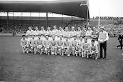 Dublin team before the All Ireland Senior Gaelic Football Championship Final Dublin V Galway at Croke Park on the 22nd September 1963. Dublin 1-9 Galway 0-10.<br />