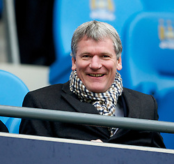 MANCHESTER, ENGLAND - Sunday, January 8, 2012: Manchester United's chief executive David Gill is all smiles before the FA Cup 3rd Round match against Manchester City at the City of Manchester Stadium. (Pic by David Rawcliffe/Propaganda)