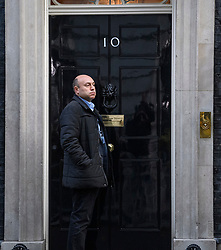 © Licensed to London News Pictures. 19/10/2019. London, UK. Business advisor to Number 10 ANDREW GRIFFITH is seen arriving at 10 Downing Street in Westminster, London on the day that Parliament will vote on a new agreement between UK government and the EU over Brexit. Parliament is sitting on a Saturday for the first time since 1982. Photo credit: Ben Cawthra/LNP