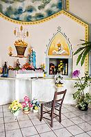 Interior do Santuário de Nossa Senhora de Caravaggio. Flor do Sertão, Santa Catarina, Brasil. / <br /> Interior of Sanctuary of Our Lady of Caravaggio. Flor do Sertão, Santa Catarina, Brazil.