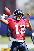Quarterback Cleo Lemon during workouts at the San Diego Chargers summer training camp at the Home Depot National Training Center in Carson, CA on 08/04/2004. ©Paul Anthony Spinelli