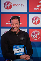 Marcel Hug SUI at a press conference at the Guoman Tower Hotel for the winners of The Abbott World Marathon Majors Series XI, 23 April 2018.<br /> <br /> Photo: Thomas Lovelock for Virgin Money London Marathon<br /> <br /> For further information: media@londonmarathonevents.co.uk