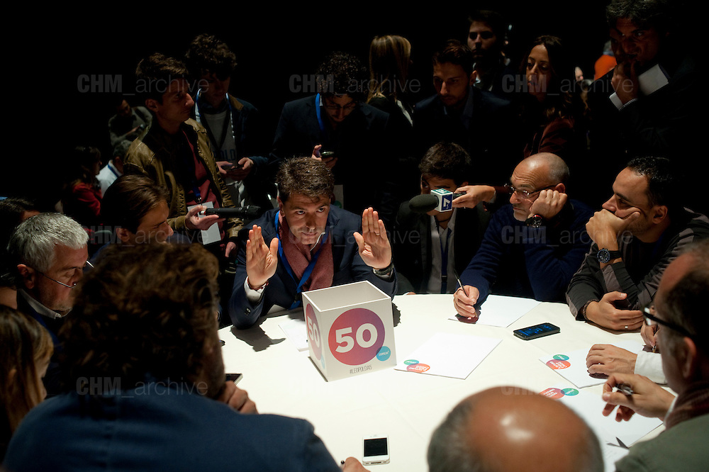 Davide Serra  alla Leopolda 5, Firenze 24 ottobre 2014 . Daniele Stefanini /  OneShot