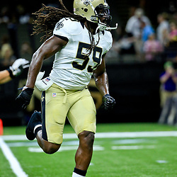 Aug 26, 2016; New Orleans, LA, USA;  New Orleans Saints outside linebacker Dannell Ellerbe (59) before a preseason game against the Pittsburgh Steelers at Mercedes-Benz Superdome. Mandatory Credit: Derick E. Hingle-USA TODAY Sports