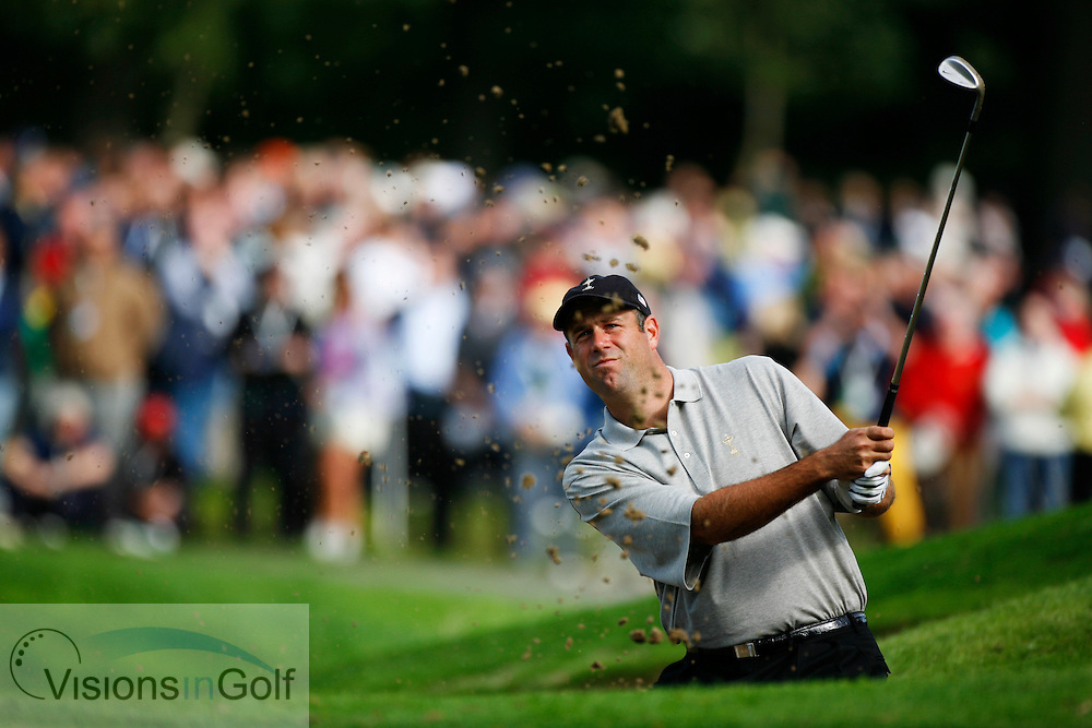 Stewart Cink on the first morning at the 36th Ryder Cup Matches 2006, K Club, Ireland, 060922<br /> Picture Credit: Mark Newcombe / visionsingolf.com