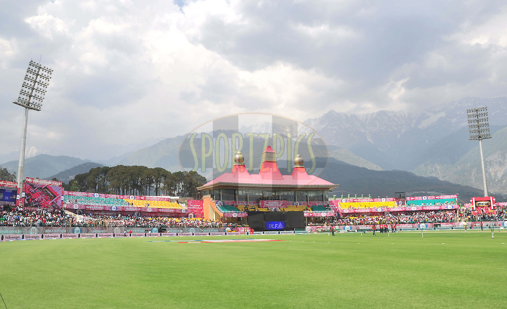 A view of HPCA  during match 69 of the the Indian Premier League ( IPL) 2012  between The Kings X1 Punjab and The Delhi Daredevils held at the HPCA Stadium, Dharamsala, on the 19th May 2012..Photo by Arjun Panwar/IPL/SPORTZPICS