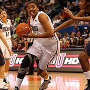 Morgan Tusk, Connecticut, in action during the Connecticut V Syracuse Semi Final match during the Big East Conference, 2013 Women's Basketball Championships at the XL Center, Hartford, Connecticut, USA. 11th March. Photo Tim Clayton