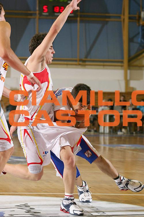 DESCRIZIONE : Amaliada Grecia Greece Campionati Europei Under 18 European Championship Under 18 UMCOR<br /> GIOCATORE : Dundjerski<br /> SQUADRA : Spain Spagna Serbia Montenegro<br /> EVENTO : Amaliada Grecia Campionati Europei Under 18 European Championship Under 18 UMCOR<br /> GARA : Spagna Spain Serbia Montenegro<br /> DATA : 23/07/2006 <br /> CATEGORIA :<br /> SPORT : Pallacanestro <br /> AUTORE : Agenzia Ciamillo-Castoria/E.Castoria<br /> Galleria : Fiba Europe 2006<br /> Fotonotizia : Amaliada Grecia Greece Campionati Europei Under 18 European Championship Under 18 UMCOR<br /> Predefinita :