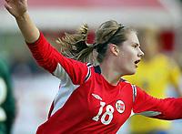 Fotball<br /> Landskamp J15/16 år<br /> Tidenes første landskamp for dette alderstrinnet<br /> Sverige v Norge 1-3<br /> Steungsund<br /> 11.10.2006<br /> Foto: Anders Hoven, Digitalsport<br /> <br /> Heidel M Johannessen - Egersunds / Norge<br /> Jubel for 2-0