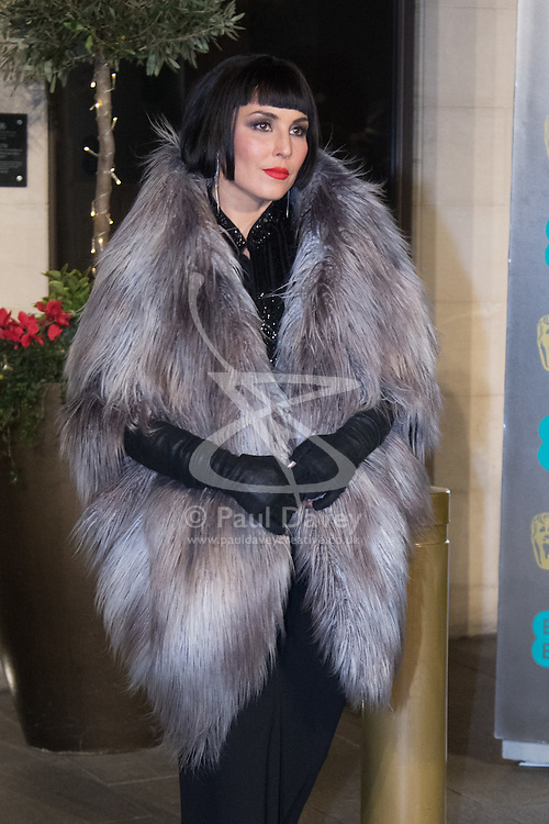 Photo Must Be Credited ©Alpha Press<br /> Noomi Rapace arrives at the EE British Academy Film Awards after party dinner at the Grosvenor House Hotel in London.