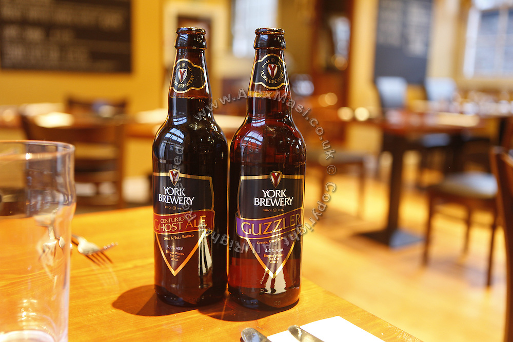 York Brewery Beers are being sold at a pub in York, Yorkshire, England, United Kingdom.
