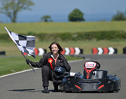 Scottish Labour leader Kezia Dugdale goes racing at Raceland in East Lothian where she took part in a photo op to highlight Scottish Labour's intention to beat the SNP.<br /> <br /> © Dave Johnston/ EEm
