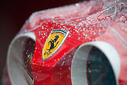 Rain drops on the Ferrari pit stop light during Canadian Grand Prix weekend.