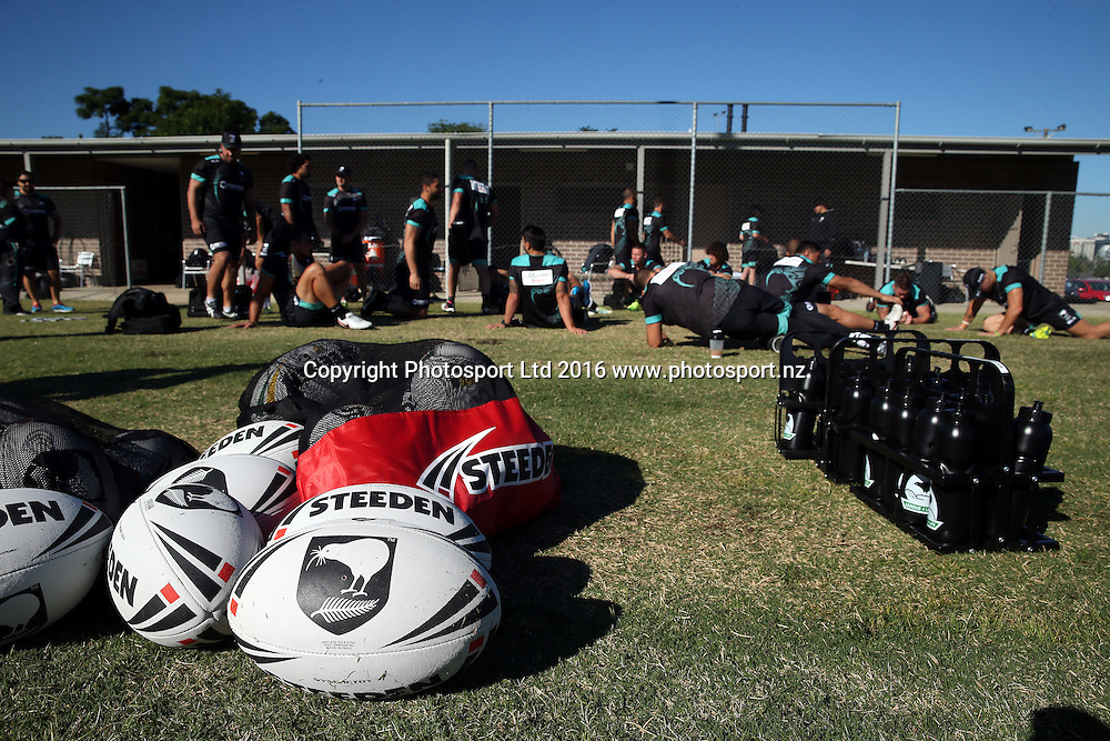 Kiwi Training Ball<br /> NZRL Training for the test match at Old Saleyards Reserve, North Parramatta Australia. Tuesday 3 May 2016. Photo: Paul Seiser/Photosport.nz