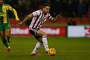 Sheffield United forward Billy Sharp (10)  during the EFL Sky Bet Championship match between Sheffield United and West Bromwich Albion at Bramall Lane, Sheffield, England on 14 December 2018.