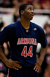 February 27, 2010; Stanford, CA, USA;  Arizona Wildcats forward Solomon Hill (44) during the second half against the Stanford Cardinal at Maples Pavilion.  Arizona defeated Stanford 71-69.