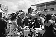 ANTHONY WOODWARD, NEWSPAPER ON HEAD, Investec Derby, Epsom. June 2 2018
