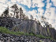 Devils Postpile National Monument in Mammoth Lakes, California