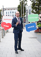 23.09.16 REPRO FREE: Threshold Launches New Tenancy Protection Service<br /> <br /> <br /> Simon Coveney TD, Minister for Housing, Planning and Local Government  at the launch of Threshold's tenancy protection service for Galway, Mayo and Roscommon and the opening of Threshold's new advice office at 5 Prospect Hill, Galway City are:<br /> <br /> The launch of the new tenancy protection service and Threshold advice office in Galway heard from Minister for Housing, Planning and Local Government Simon Coveney; Diarmaid O'Sullivan, Services Manager, Threshold Galway and Aideen Hayden, Chairperson of Threshold. The Tenancy Protection Service provides advice and support to individuals, couples and families living in private rented accommodation experiencing tenancy problems and whose tenancy is at risk. The service seeks to keep people in their homes and prevent them from having to access homelessness services. The Tenancy Protection Service has a freephone helpline, 1800 454 454, which will operate from 9.30am to 5pm, Monday to Friday.<br /> <br /> ENDS<br /> <br /> Contact: Laura Harmon, DHR Communications, Tel: 01-4200580 / 086-1738455<br /> Photo:Andrew Downes, XPOSURE.
