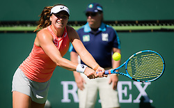 March 7, 2019 - Indian Wells, USA - Rebecca Peterson of Sweden in action during her first round match of the 2019 BNP Paribas Open WTA Premier Mandatory tennis tournament (Credit Image: © AFP7 via ZUMA Wire)