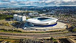 Vista geral da Arena do Grêmio, localizada no bairro Humaitá, zona norte de Porto Alegre. Inaugurado em 8 de dezembro de 2012 foi utilizado como campo oficial de treino durante a Copa do Mundo de 2014. FOTO: Jefferson Bernardes/Agência Preview