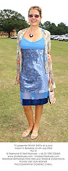 TV presenter PENNY SMITH at a polo match in Berkshire on 6th July 2003.<br /> PLE 31