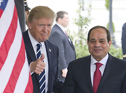 April 3, 2017 - Washington, District of Columbia, United States of America - United States President Donald J. Trump welcomes President Abdel Fattah Al Sisi of Egypt to the White House for talks in Washington, DC on Monday, April 3, 2017..Credit: Ron Sachs / CNP (Credit Image: © Ron Sachs/CNP via ZUMA Wire)
