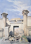 Entrance to the Temple of Ramses III', c1850.  Canon G Frederick Weston, c1850. Ancient Egypt Archaeology